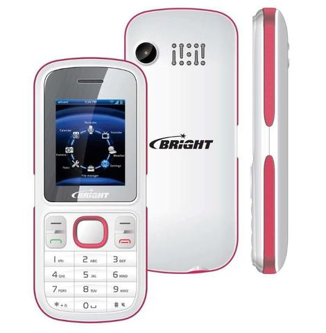 Celular Bright 0498 4mb Branco - Dual Chip