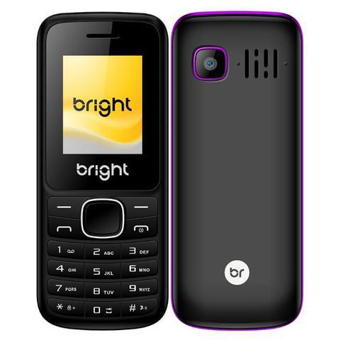 Celular Bright 0417 Preto - Dual Chip