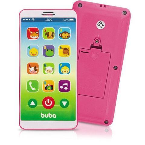 Imagem de Celular Infantil Buba Baby Phone Com Som E Musicas Rosa 6842