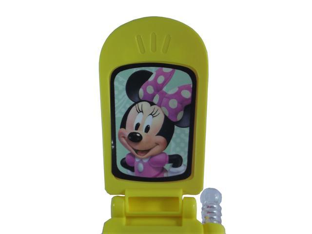 Imagem de Celular Infantil Minnie c/ Som e Luz a Bateria - 130213