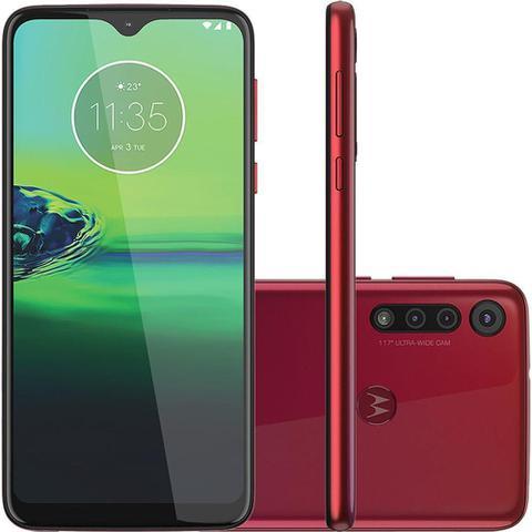 Imagem de Celular Motorola Moto G8 Play XT2015 32GB 2GB RAM Câmera Tripla Tela 6.2 Vermelho Magenta