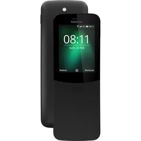 Imagem de Celular Nokia 8110 Dual Chip Rádio Wi-fi Lacrado Original - Preto