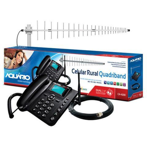 Imagem de Celular Rural Aquário CA4201 Dual Chip QuadBand com Kit