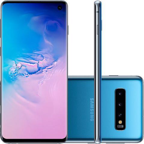 Imagem de Celular smartphone samsung g973f galaxy s 10 azul desb