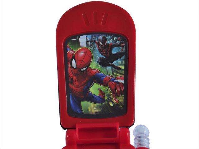 Imagem de Celular Spider Man com Som e Luz a Bateria 9cm - 131398