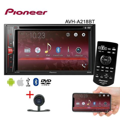 Imagem de Central Multimídia AVH-A218BT Pioneer DVD/USB/Am/Fm/Bt/Espelhamento