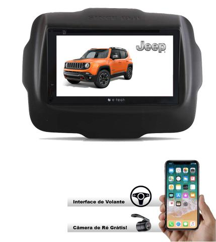 Imagem de Central Multimidia Dvd Jeep Renegade  + Interface Volante