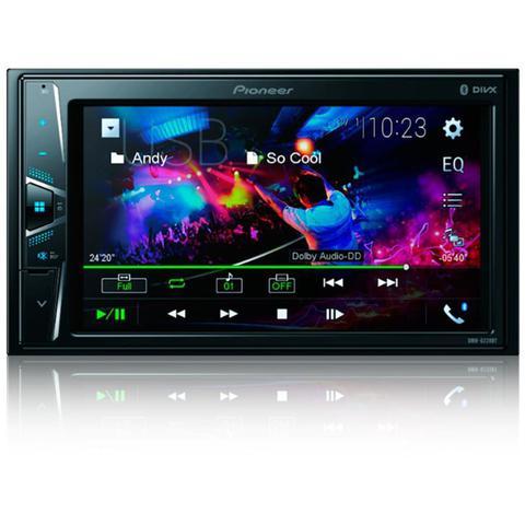 Imagem de Central Multimidia Fiat Bravo 2007 a 2013 com Pioneer DMH-G228BT, Camera de Re, Moldura Preta e Interface
