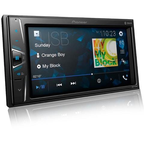 Imagem de Central Multimidia Fiat Punto 2008 a 2012 com Pioneer DMH-G228BT, Camera de Re, Moldura Prata e Interface