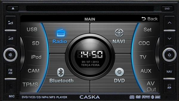 Imagem de Central Multimídia Ford Fusion c/ tv Digital / GPS/ Bluetooth - Caska