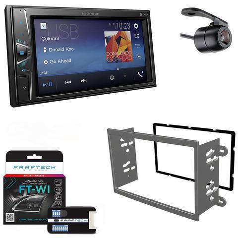 Imagem de Central Multimidia GM Onix 2012 em Diante com Pioneer DMH-G228BT, Camera de Re, Moldura Cinza e Interface