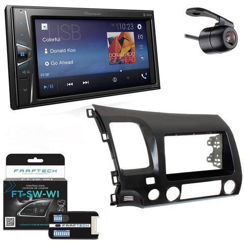 Imagem de Central Multimidia Honda Civic 2006 a 2011 Versão Si com Pioneer DMH-G228BT, Camera de Re, Moldura e Interface