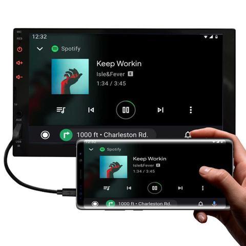 Imagem de Central Multimídia Hyundai HB20 2012 a 2019 7 Polegadas MP5 USB Bluetooth Espelhamento iOS Android + Câmera de Ré