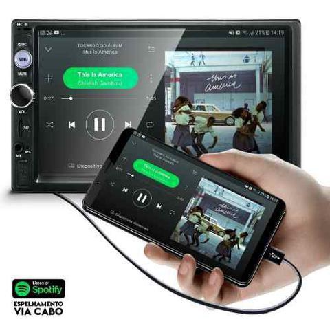 Imagem de Central Multimídia Mp5 Santa Fé Bluetooth Cam Espelhamento Android
