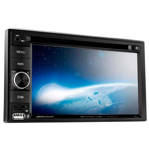 Imagem de Central Multimídia Multilaser Evolve Light 6,2 Pol. 2 Din DVD Mirror Link 4x50w Bluetooth + Rádio FM AM + Entrada microSD + USB + AUX - P3321