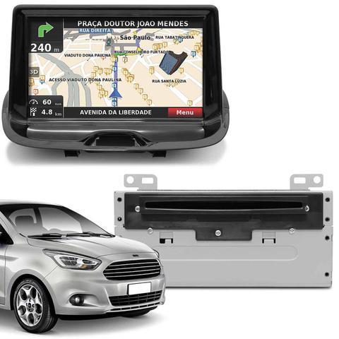 Imagem de Central Multimídia Novo Ford Ka Hatch Ka+ Sedan 14 a 18 7 Pol SYNC Bluetooth GPS USB DVD AUX