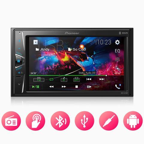 "Imagem de Central Multimidia Pioneer 2 din MVH-G218BT LCD 6,2"" - Touch Bluetooth USB Auxiliar"