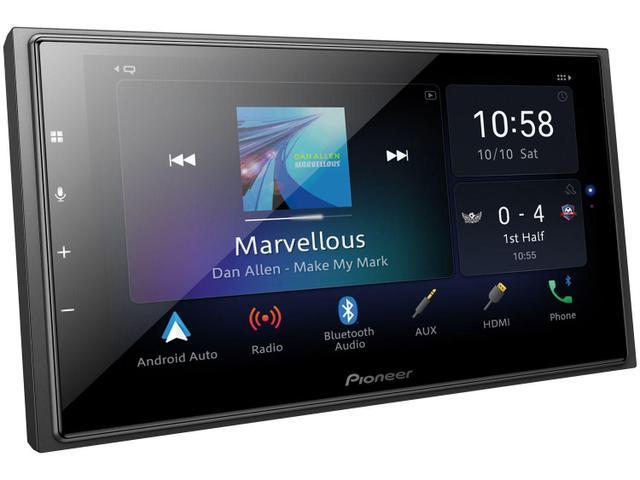 "Imagem de Central Multimídia Pioneer 2 DIN TV Digital - Bluetooth Wi-fi 6,8"" Touch USB Série-Z DMH-Z6380TV"