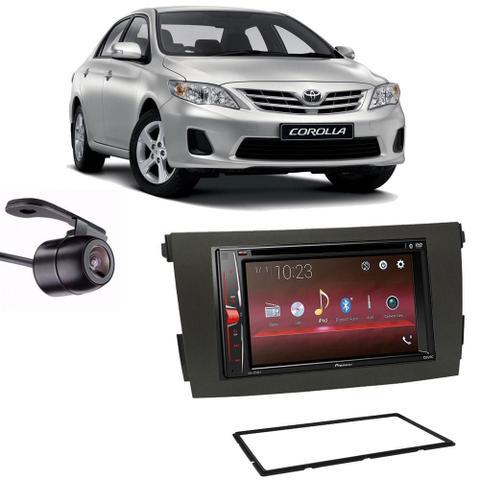 Imagem de Central Multimídia Pioneer Avh-A218bt + Moldura 2 Din + Câmera Ré Toyota Corolla 2008/2013