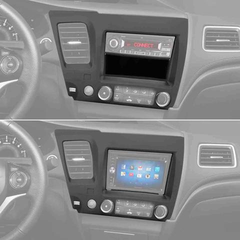 Imagem de Central Multimídia Pioneer Avh-z9180tv 2 Din Espelhamento Bluetooth DVD TV + Moldura Honda New Civic