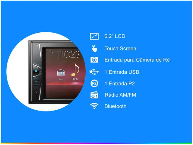 Imagem de Central Multimídia Pioneer MVH-G218BT Bluetooth