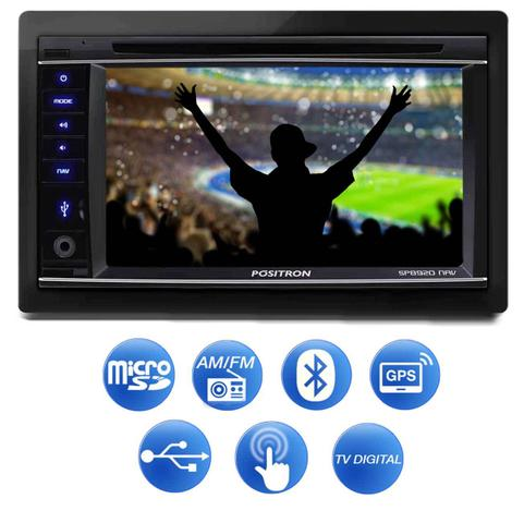 Imagem de Central Multimídia Positron SP8920 NAV 2 Din 6,2 Pol Bluetooth USB GPS TV AUX FM Espelhamento