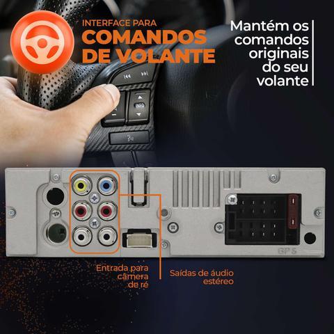 """Imagem de Central Multimidia Retrátil Pósitron SP6330BT 7"""" 1 Din Espelhamento Android BT DVD + Câmera Ré"""