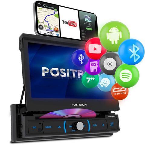 Imagem de Central Multimidia Retrátil Pósitron SP6330BT Android Bluetooth DVD MP3 SD USB