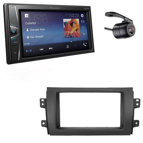 Imagem de Central Multimidia Suzuki SX4 2009 a 2014 com Pioneer DMH-G228BT, Camera de Re e Moldura