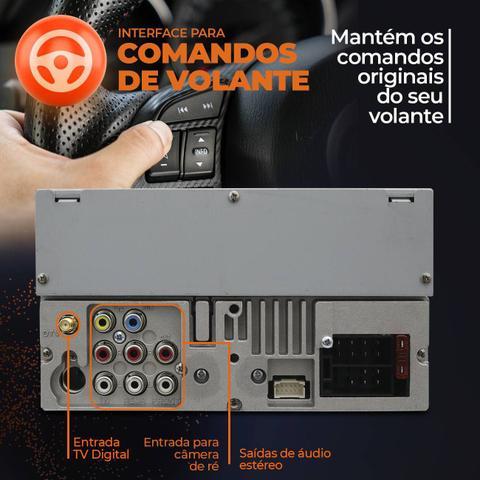 "Imagem de Central Multimídia TV Pósitron 2 Din SP8730 DTV 6.2"" Bluetooth Espelhamento Android MP3 DVD USB AUX"