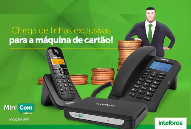 Imagem de Central Telefônica 2 linhas 7 ramais Minicom Slim Intelbras