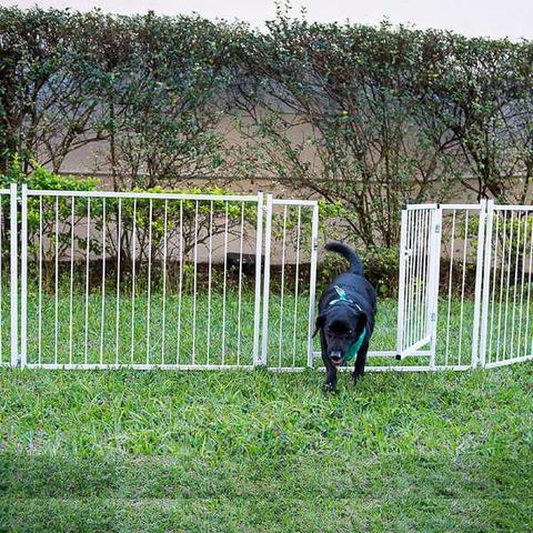 Imagem de Cerca Modular 2 Módulos com Portão Canil para Cachorro Quintal