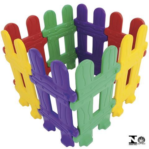 Imagem de Cercadinho Infantil Colorido Com 8 Módulos 0984.3 Xalingo