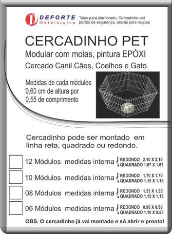 Imagem de Cercado Canil Cães Coelhos Gato Pet 6 Pc