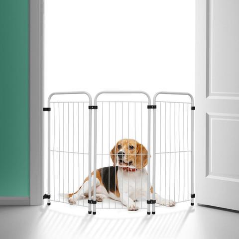 Imagem de Cercado Delimitador Pet Portátil p/ Alto Cachorro Pequeno e Médio Porte - Açomix