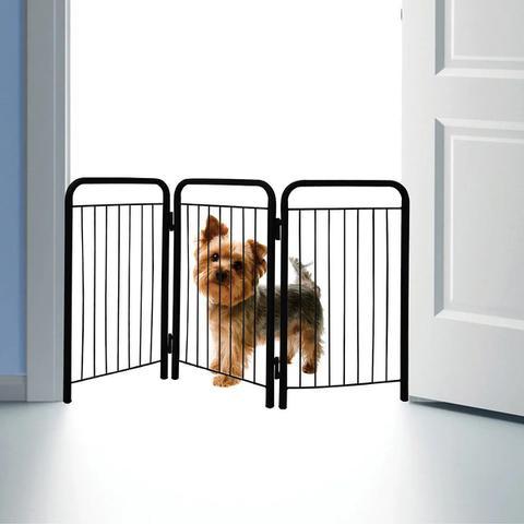 Imagem de Cercado Delimitador Pet Portátil p/ Cachorro de Pequeno Porte/Filhote - Açomix