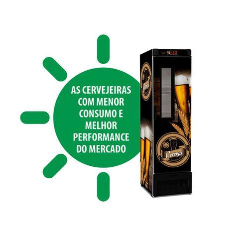 Imagem de Cervejeira / Expositor Vertical c/ Visor Metalfrio Preto Adesivado 296L VN28FE 110v