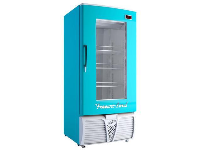 Geladeira/refrigerador 320 Litros 1 Portas Azul - Freeart - 220v - C320cw