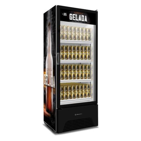 Imagem de Cervejeira Expositor Vertical Metalfrio 497 Litros Adesivada VN50RL 220V 220V