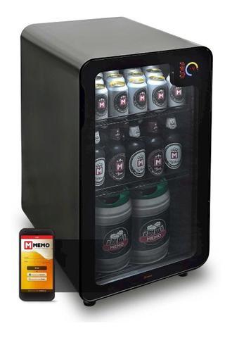 Imagem de Cervejeira Memo 100 Litros Frost Free Preta Com Wi-fi
