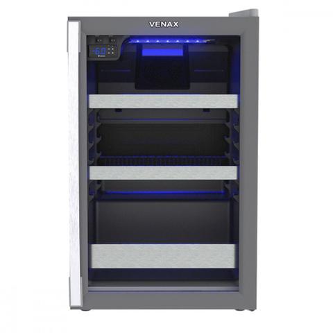 Geladeira/refrigerador 100 Litros 1 Portas Cinza Blue Light - Venax - 110v - 21206