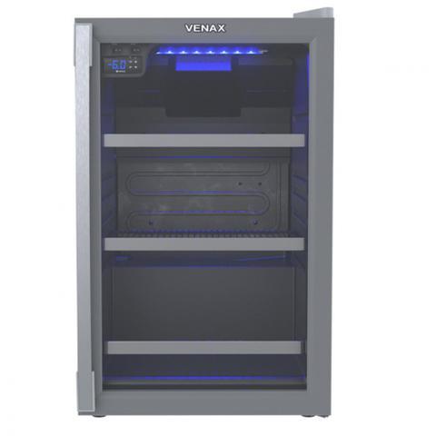 Geladeira/refrigerador 100 Litros 1 Portas Cinza Blue Light - Venax - 220v - 21206