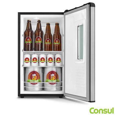 Imagem de Cervejeira Vertical Consul de 82 Litros Frost Free Titanium - CZD12AT