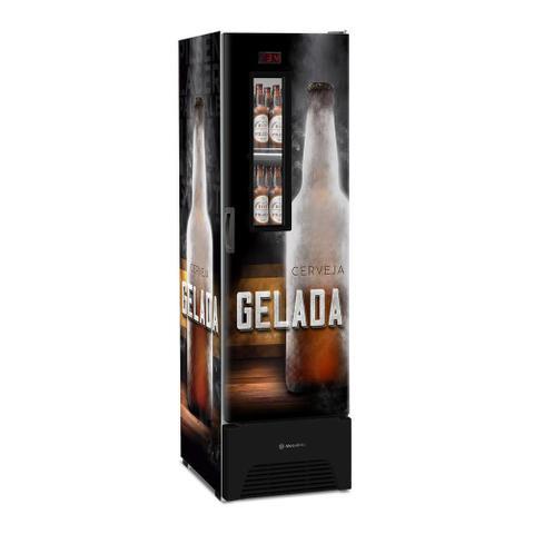 Imagem de Cervejeira Vertical Metalfrio Optima 287 Litros com Porta Glass Viewer e Adesivada VN28FP 220v 220v