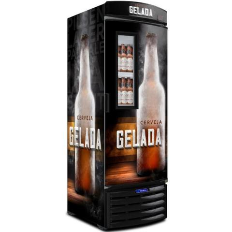 Imagem de Cervejeira Vertical Metalfrio Porta Glass Viewer Adesivada 497 Litros VN50FL 220V CERVEJA GELADA