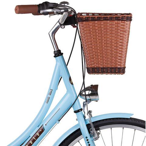 Imagem de Cesta Cestinha para Bicicleta Retrô Vintage com Engate Universal