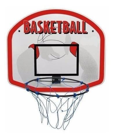 Imagem de Cesta De Basquete Tabela Basket Aro Rede Nylon 57x67cm Mdf 9mm Klopf 1017