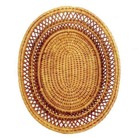 Imagem de Cesta para pão em rattan natural BAHAY - 28x22.5x9.5 cm