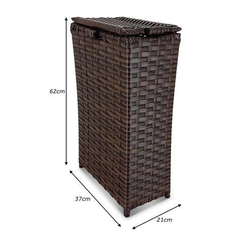 Imagem de Cesto Baú Caixa de Roupas Slim em Junco Fibra Sintética