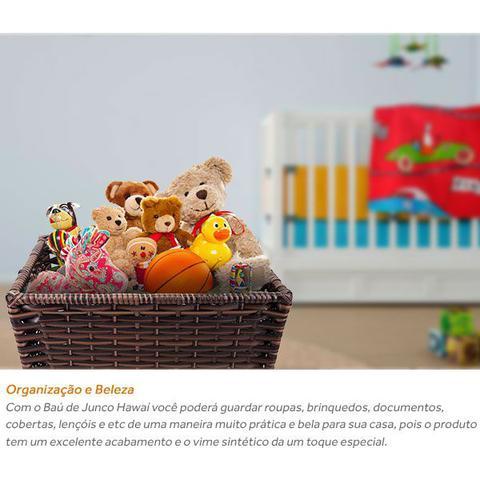 Imagem de Cesto Baú de Roupas Brinquedos em Vime Junco Fibra Sintética